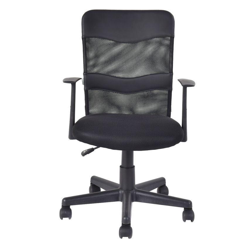 Modern Ergonomic Mesh Mid-Back Executive Computer Desk Task Office Chair Black