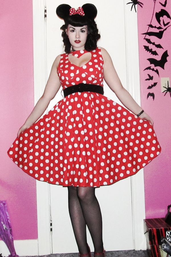 Rockabilly pin up Minnie Mouse Halloween Costume | Clothing | Pinterest