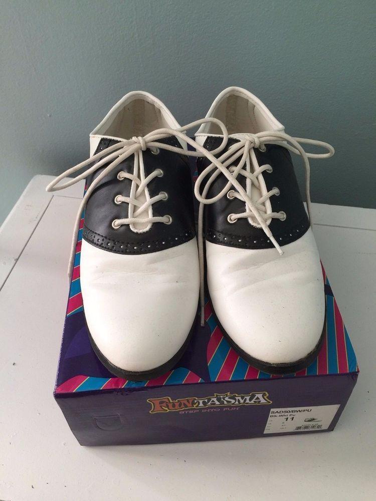 SOLD! Fun Black and White Funtasma Saddle Shoes - 11 #Funtasma #Oxfords #Casual