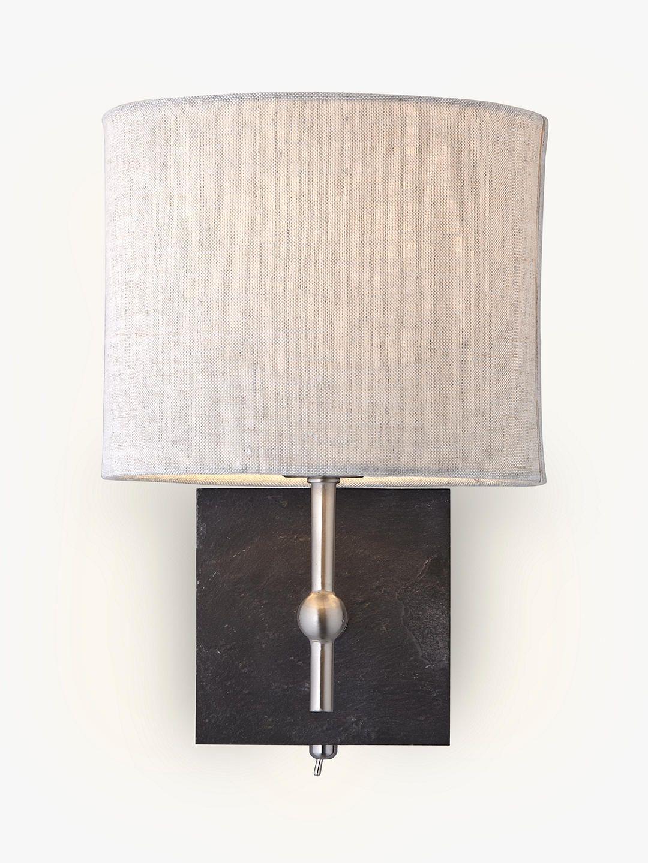 John Lewis Partners Jack Wall Light Slate In 2020 Wall Lights Wall Light Shades Wall Lights Bedroom