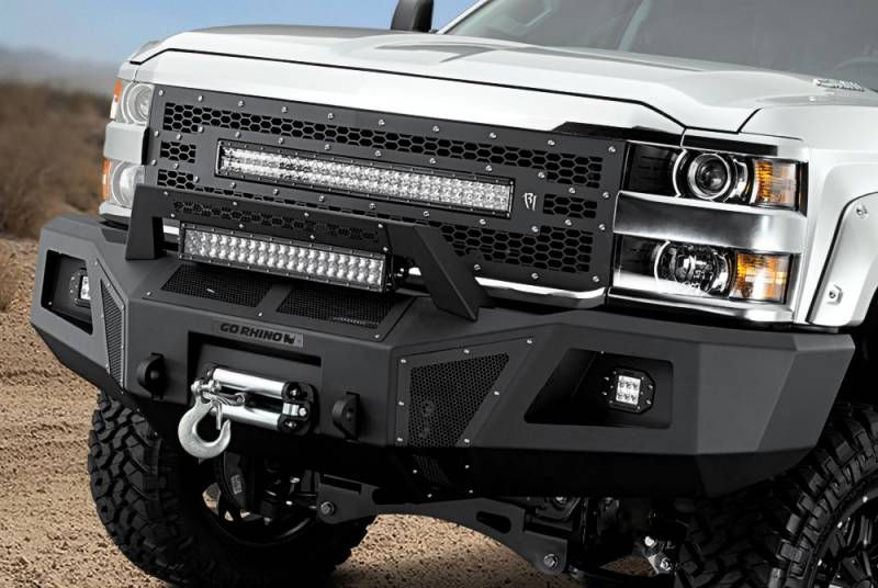 Go Rhino 24273t Br10 Front Bumper Chevy Silverado 2500hd 3500 2015
