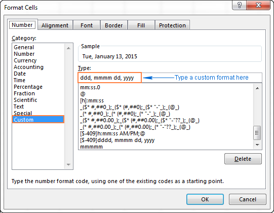 Creating A Custom Date Format In Excel Me On A Map Excel Job Hunting