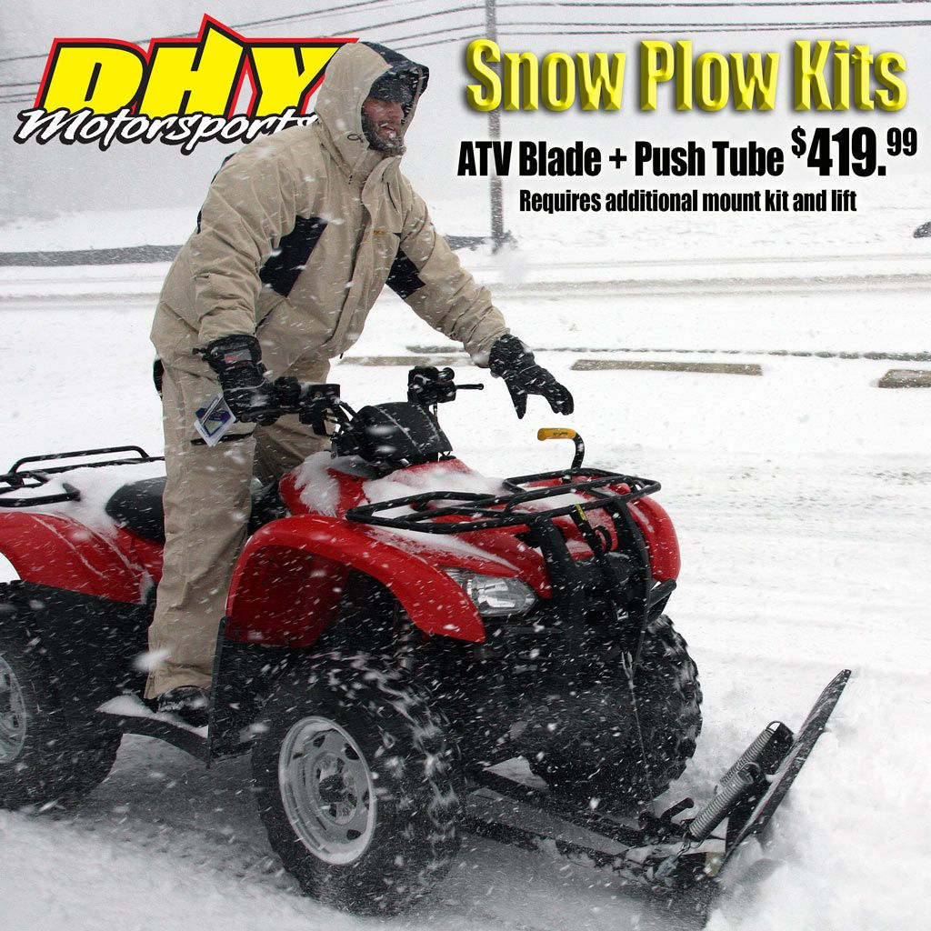 Put your #ATV to work! #CycleCountry #snow #plow blades and #pushtubes just $419.99 at #DHYMotorsports #SnowPlowKits