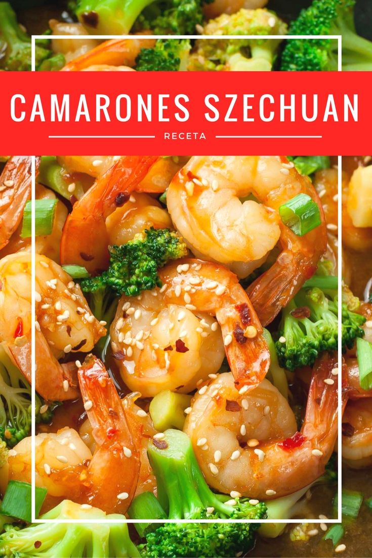 Como hacer Camarones estilo Szechuan   Recipe   Recetas and Food