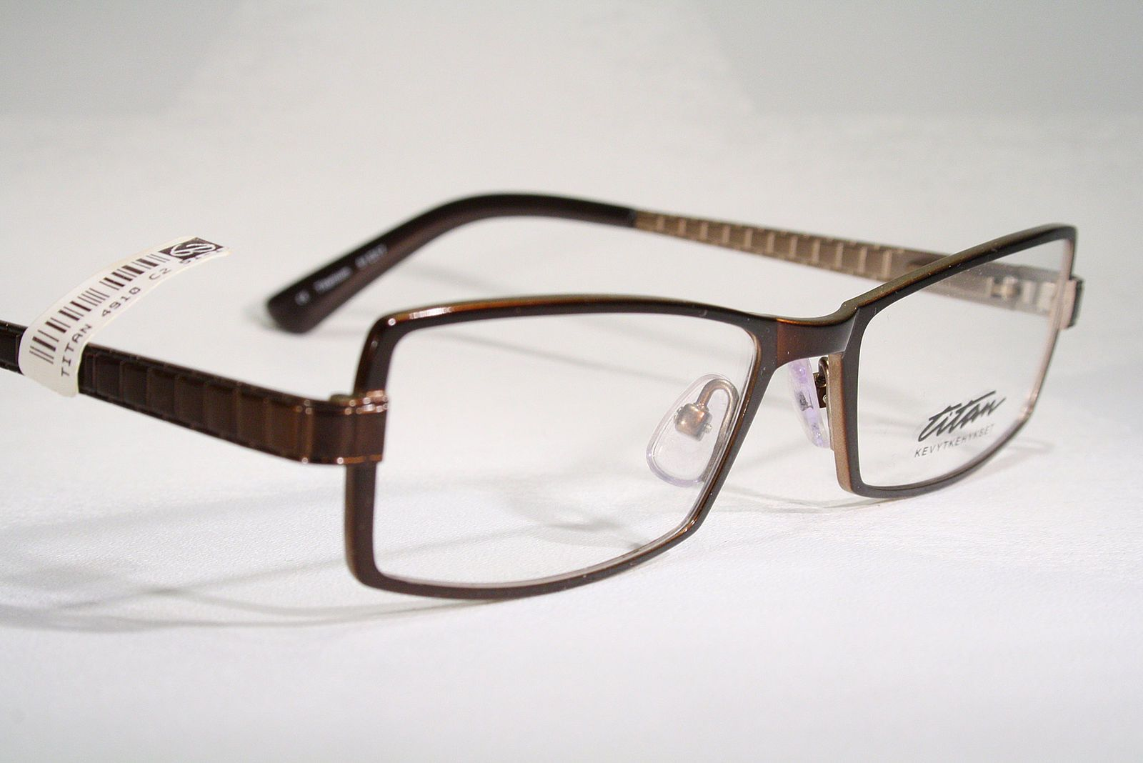 9799daf1eac6 TITAN Men s Glossy Brown Nonallergenic Titanium Optical Eyeglass Frames  Glasses   eBay (RipVanW)