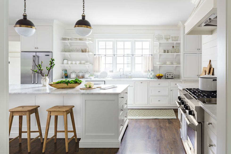 Rustic Farmhouse Kitchen White this is the worst color to paint your kitchen | kitchens and
