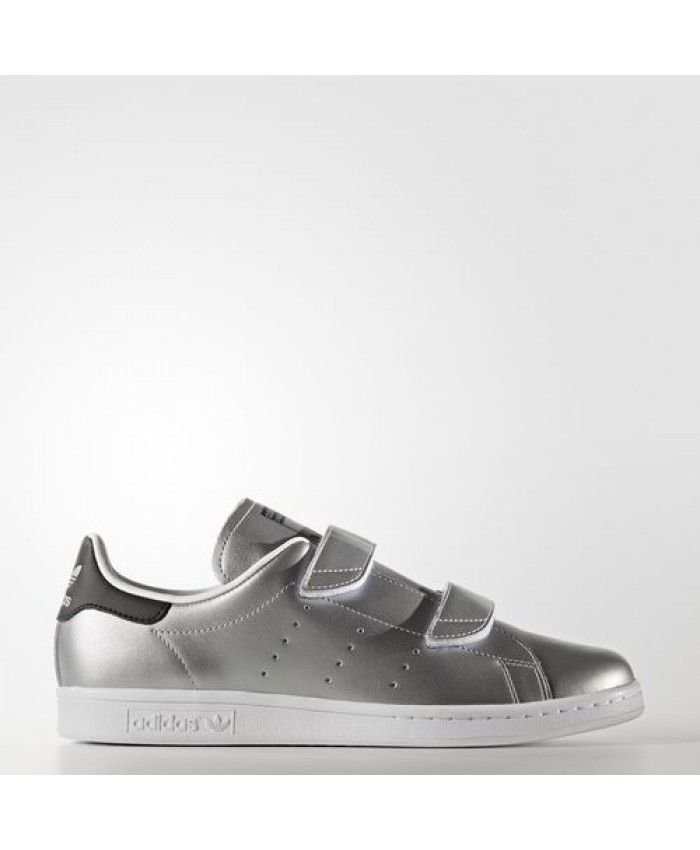 Mens trainers � Womens Adidas Fast Stan Smith Silver Met. Silver Met. Core  Black S76661