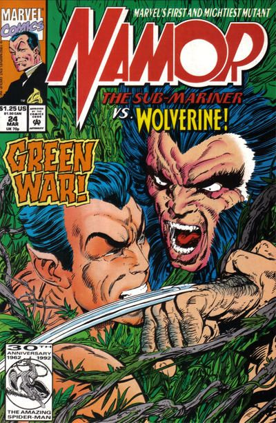Namor, The Sub-Mariner # 24 by John Byrne