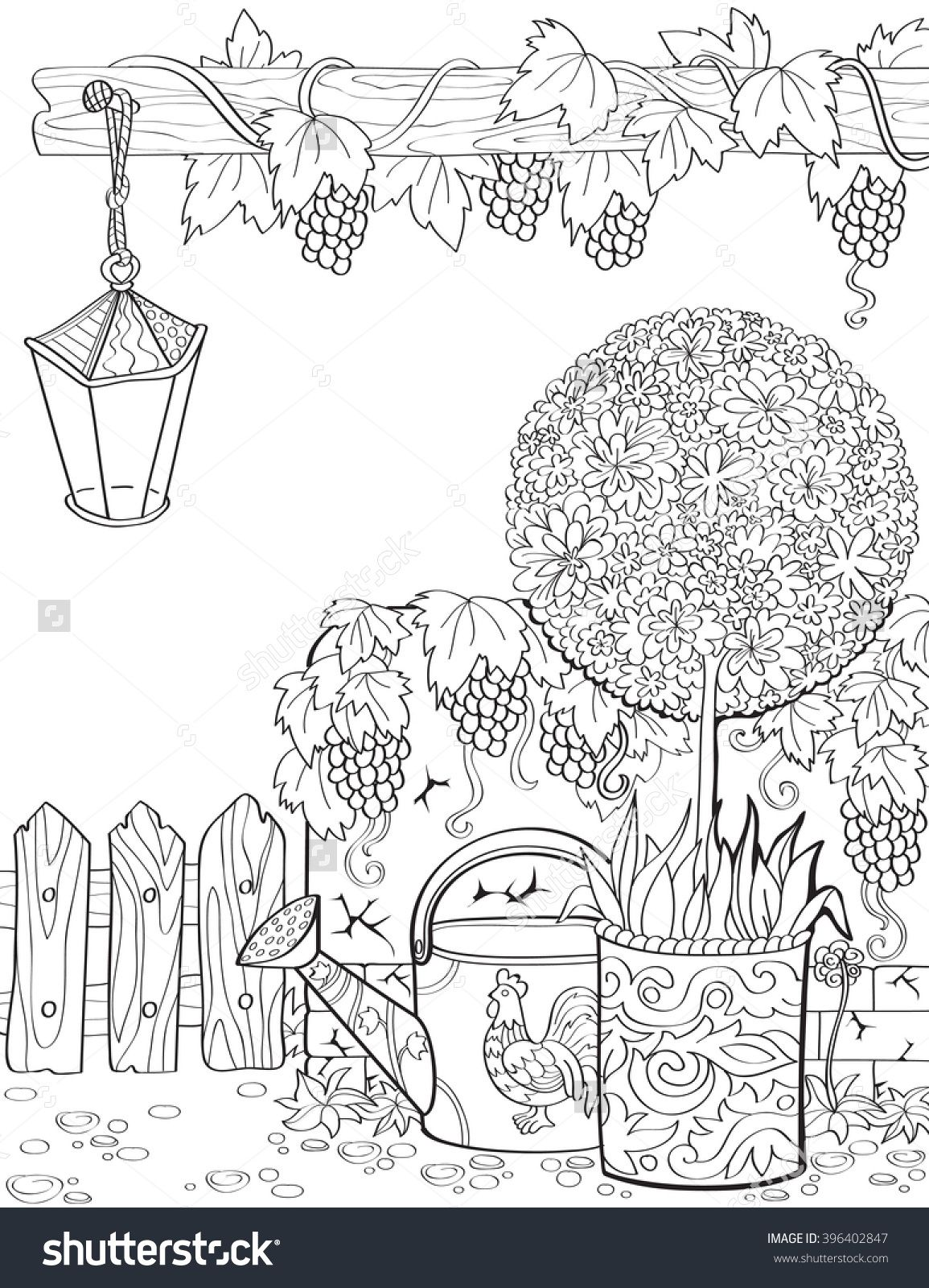 Gardening Time Coloring Page Malvorlagen Coloring Templates