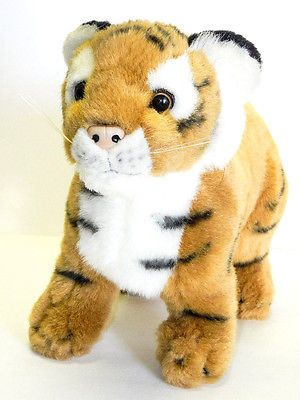 Animal Planet Stuffed Plush Standing Tiger Cub Wild Cat Animal 9in