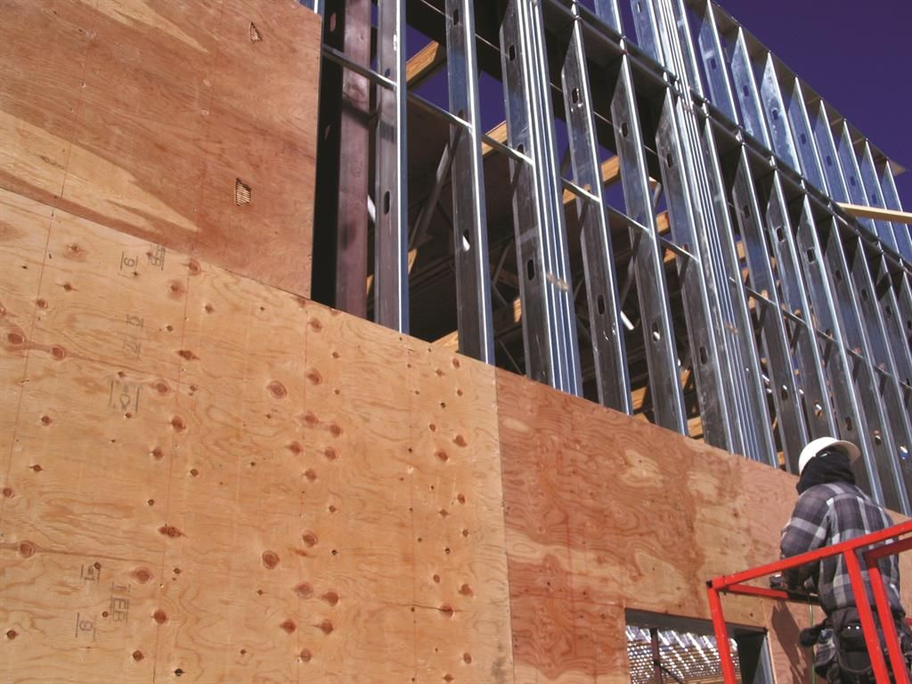 L Peak Framing Plywood Sheathing Jpg 1024 768 Steel Curtain Plywood Sheathing