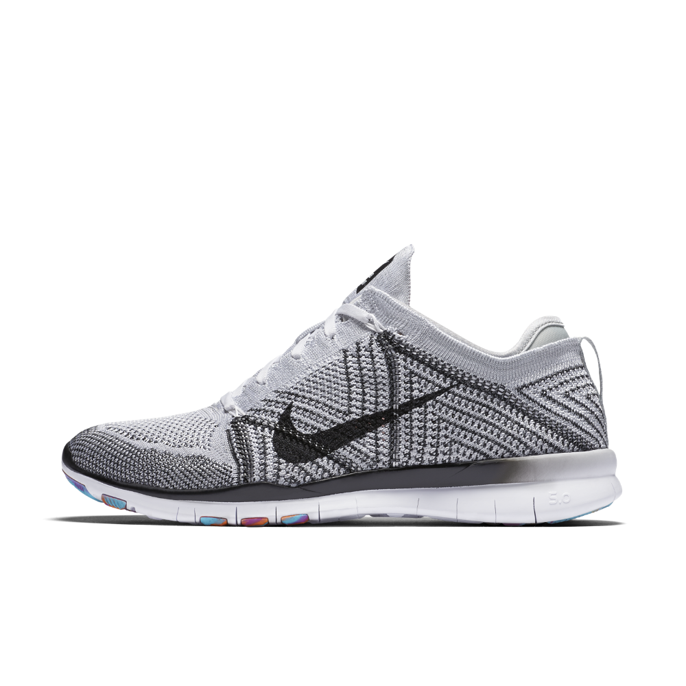 100a8321dfa2 ... official nike free tr 5 flyknit womens training shoe size 9.5 white  clearance sale 95f91 39d07