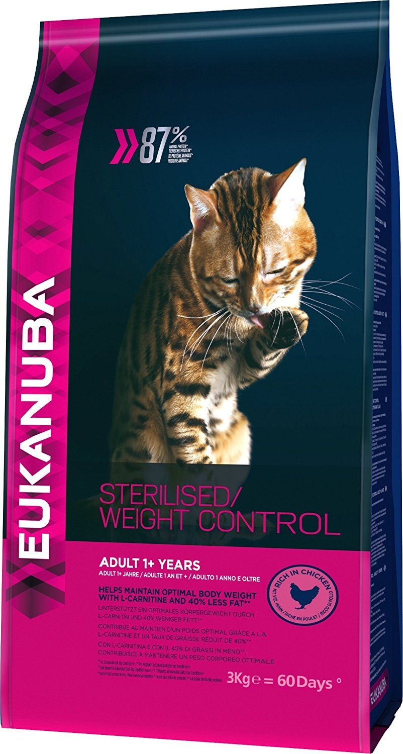 Eukanuba Dry Cat Food Adult For Overweight Sterilised Chicken Liver 3 Kg Continue To The Product At The Image Li With Images Senior Cat Food Cat Food Cat Food Reviews