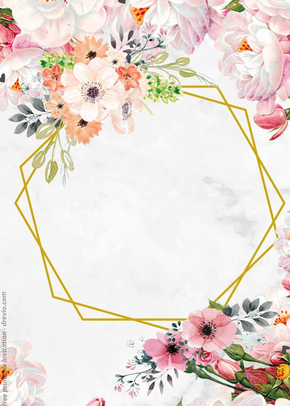 Fondo Vintage Invitation Busqueda De Google Acuarela Floral Imprimibles Florales Fondos Para Tarjetas