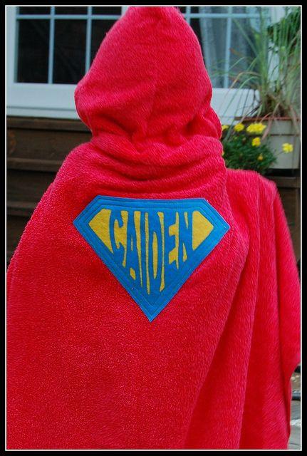 Superhero Towel 3 by Pinafores & Pinwheels, via Flickr