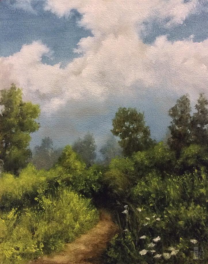 """Laura den Hertog - Trail - 10"""" x 8"""" - oil on panel"""