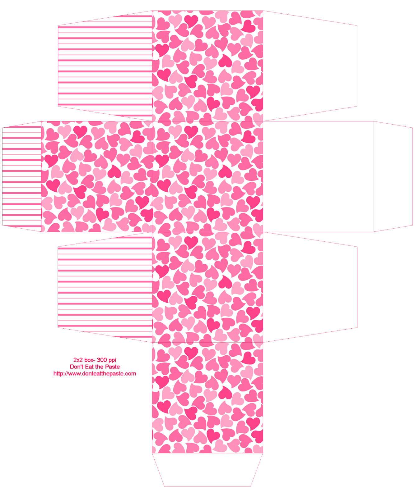Printable Hearts Boxes