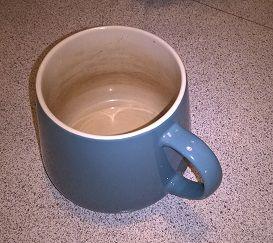 Rengøring af terande i kopper