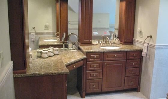 Architecture Bathroom Vanities With Makeup Table Amazing Double