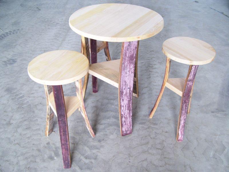 Tavolo botte e sgabelli botti in castagno dell etn likesx