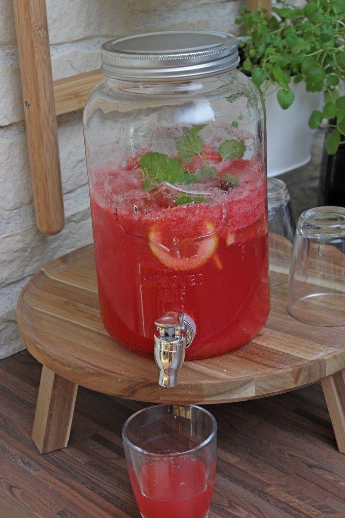 Erdbeer-Zitronen-Limonade ohne Zucker!