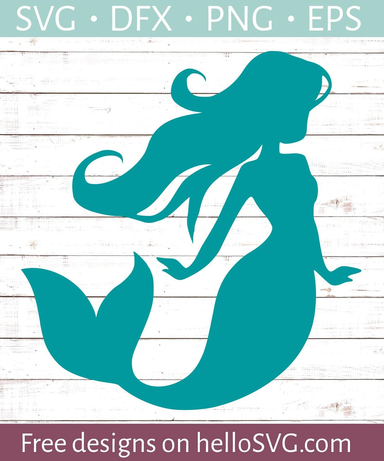 Mermaid & Sea Themed FREE svgs Mermaid silhouette