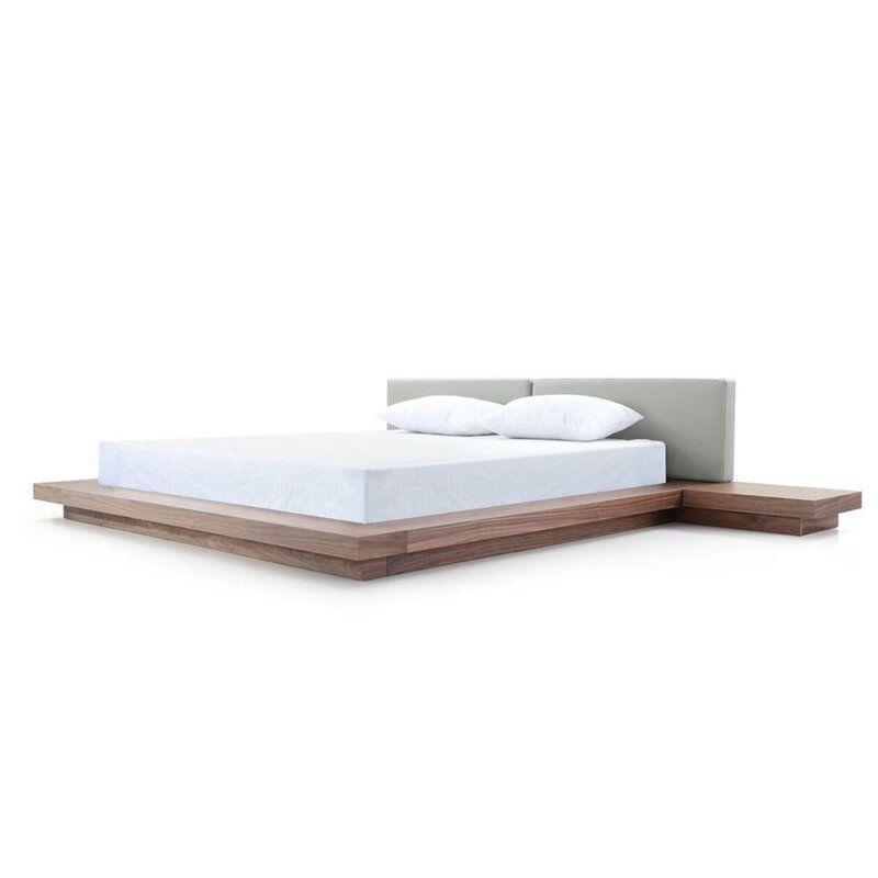 wade logan carter upholstered platform bed  reviews