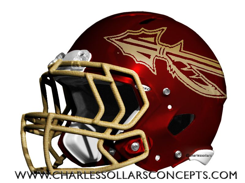 Fsu New Uniforms Charles Sollars Concepts Helmet Football Helmets Raiders Helmet