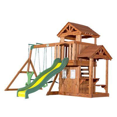 Tanglewood All Cedar Swing Set   Cedar swing sets, Play ...