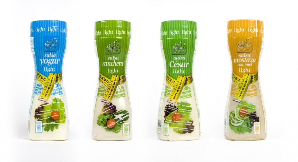 Packaging para nueva gama de productos light. | #packaging #labeling #foot #sauce