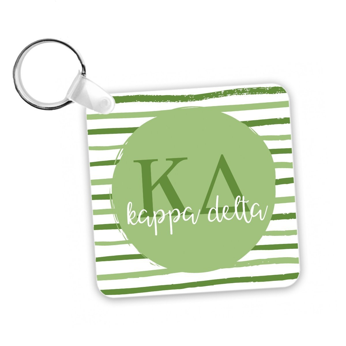 Kappa Delta Keychain Stripes I Reversible Design I Greek Letters I