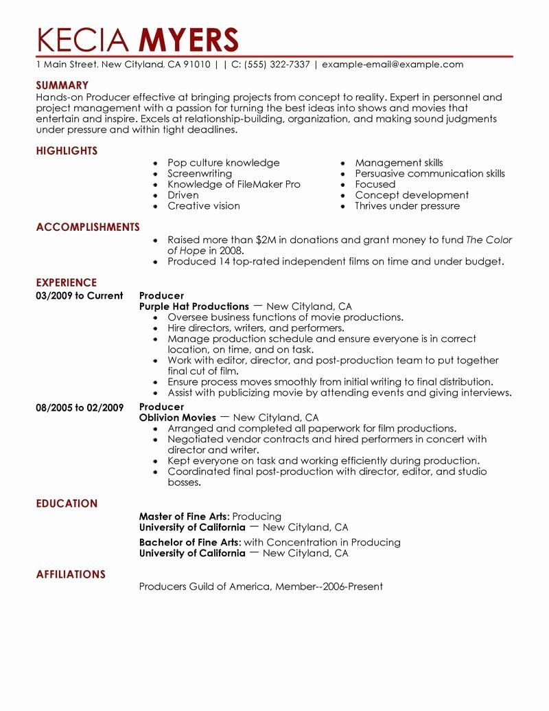32 Luxury Film Production assistant Resume in 2020