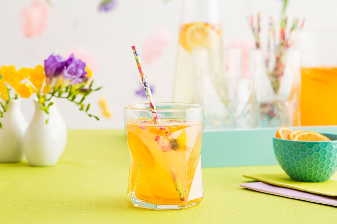 This Tangerine Spritzer is perfect for summer.