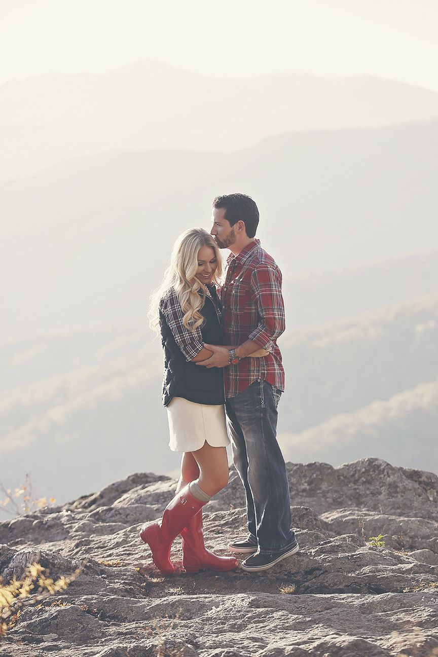 Fall Mountain Engagement Photos