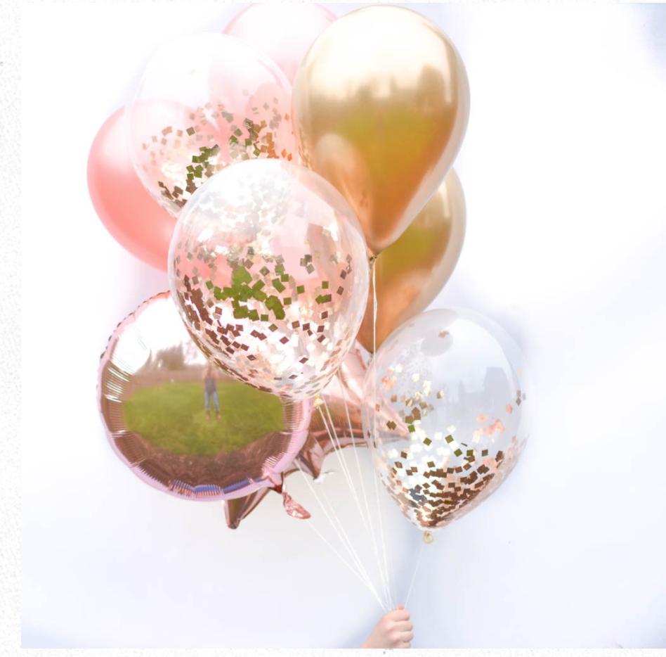 Pin By Renee Ortiz On Golden Rose Rose Gold Balloons Gold Balloons Rose Gold Party Supplies