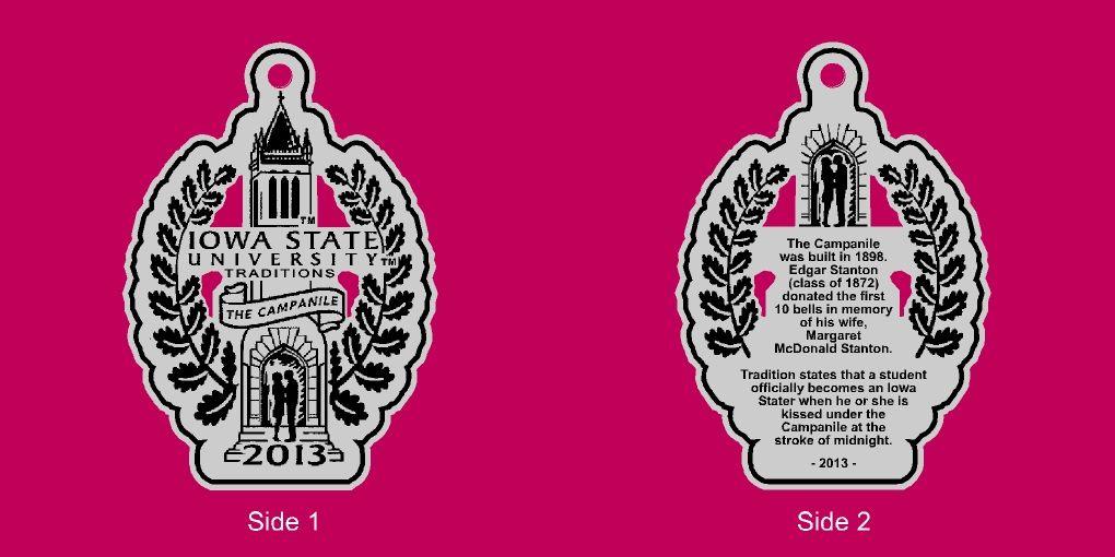 Isu alumni association 2013 pewter ornament design iowa