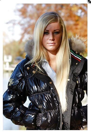 Know one Sexy blond puffy coat not tell