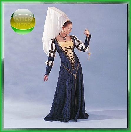 McCalls 4041 Medieval 15thC. Flemish Gown & Hennin Pattern