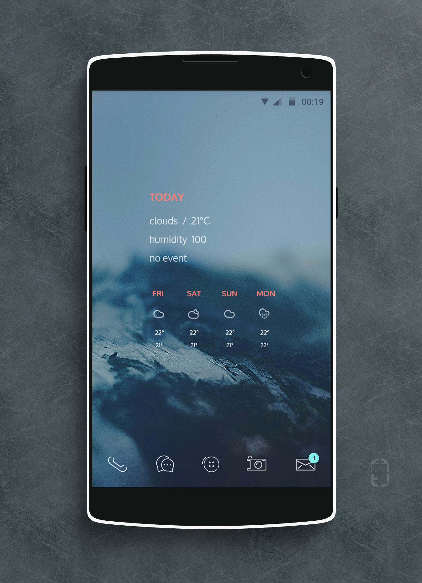 Ice Android Homescreen By Rabrot   MyColorscreen