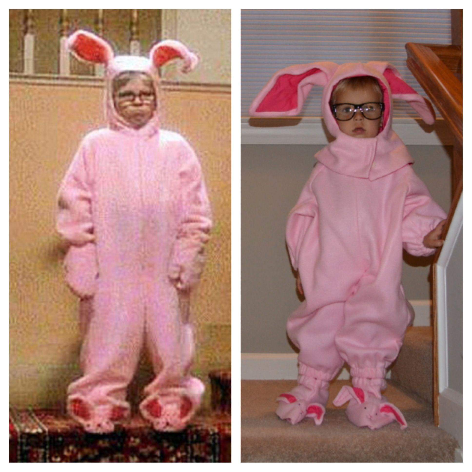 toddler halloween costume ralphie pink bunny a christmas story