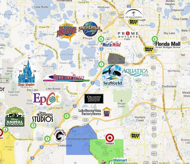 mapa orlando y parques - net deals - image results