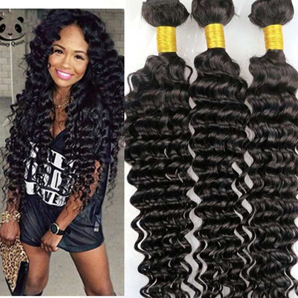 Harmony Hair Brazilian Hair Weaves Virgin Human Hair Weft Deep Curly