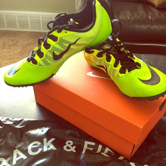 f5646c1d318b Nike Track Spikes Neon Green Nike Track Spikes. Worn about 6 times. Great  condition. Well cared for. Comes with bag for shoes. Nike Shoes Athletic  Shoes