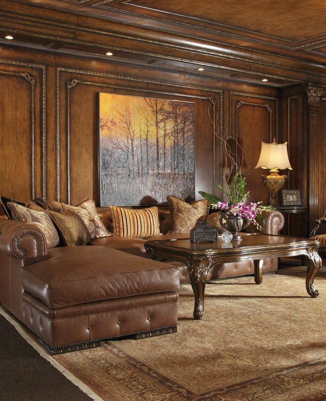 Furniture Charming And Elegant Cheap Living Room Sets: Leather Sectional, Large Painting To Scale