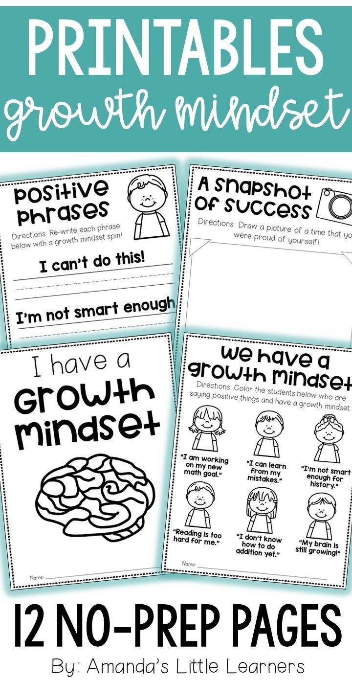 Growth Mindset Worksheets - No Prep Printables | Best of Back to ...