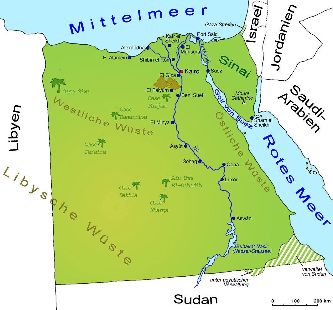 Landkarte Afrika Aegypten Landkarte Afrika Landkarte Oase Siwa