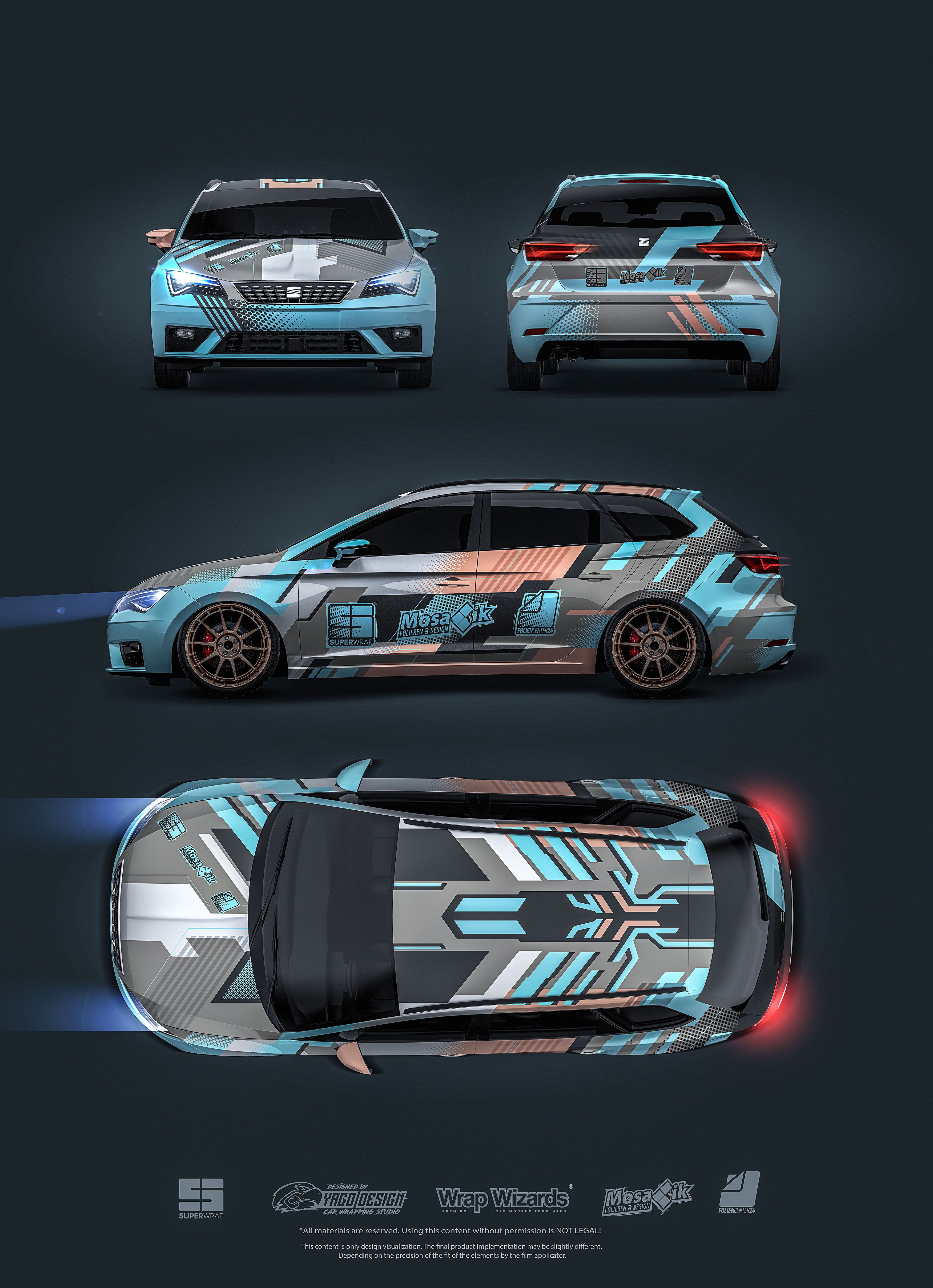S Seat Leon St S Yago Design Seat Leon Automotive Design Custom Cars [ 4832 x 3500 Pixel ]