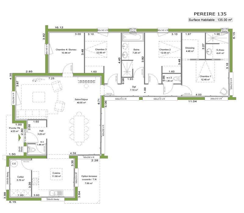 Plan 2D casa Pinterest 2d and House