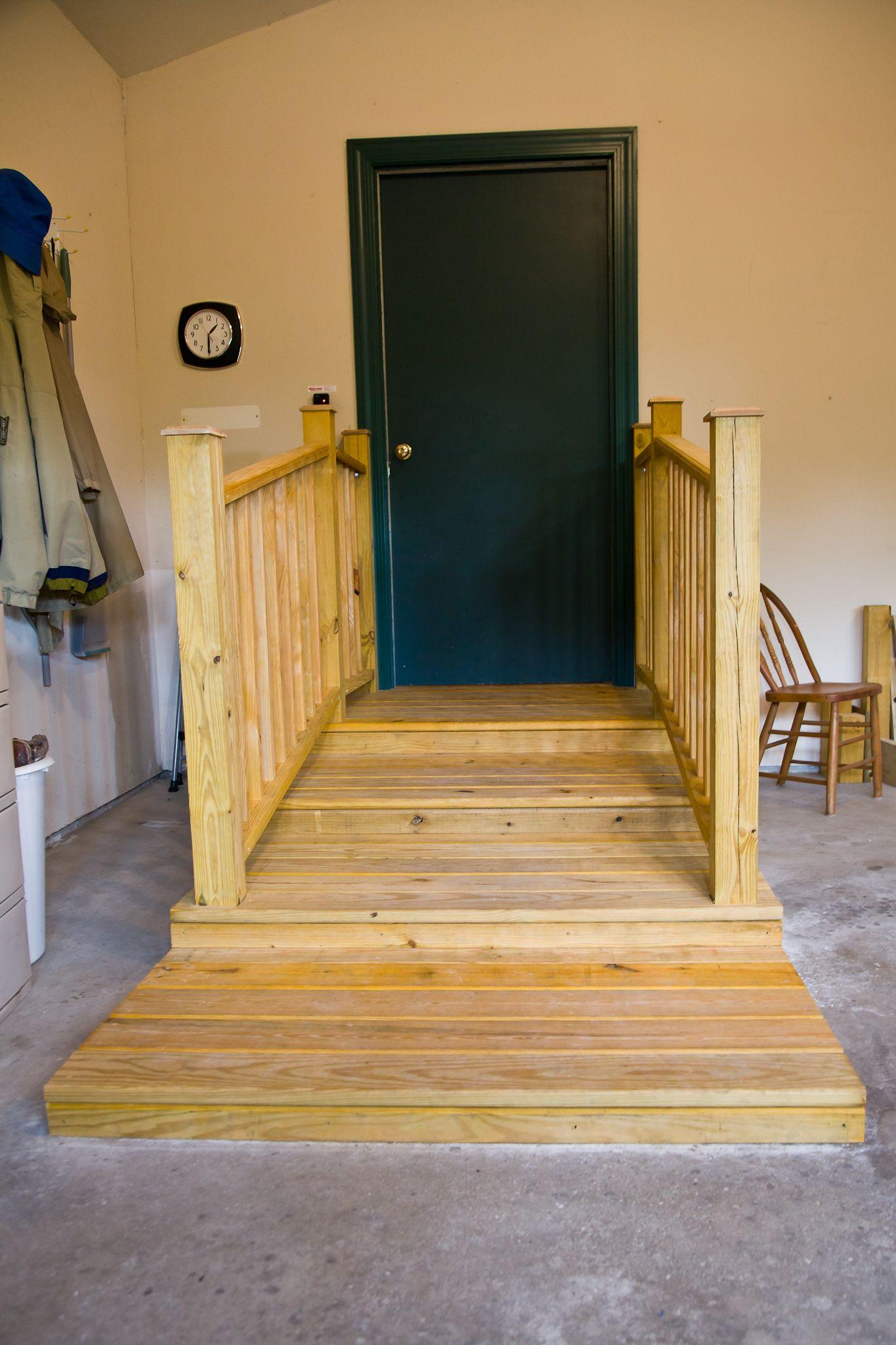 Garage Platform Stairs   Garage Stairs with Railings ...
