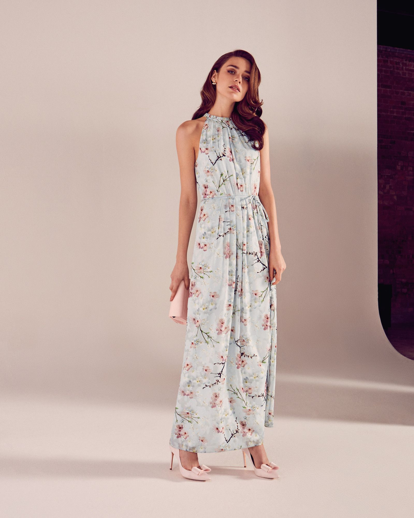 Full bloom the elynor dress will prove an elegant option for your ted baker elynor oriental blossom maxi dress house of fraser ombrellifo Images
